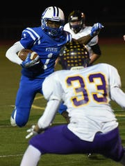 Wyoming's Deandre Griffin runs the ball down the field during their game against Unioto Nov. 4.