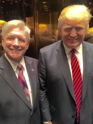 Nutley Public Affairs Commissioner Steven Rogers, left, poses with now Presidential-Elect Donald Trump.