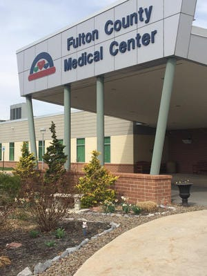 The entrance at Fulton County Medical Center, McConnellsburg.