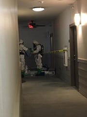 A Hazmat team assisted federal agents with a drug case