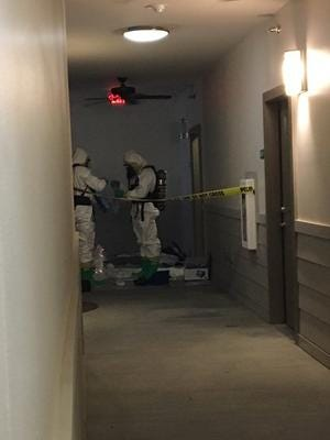 A Hazmat team assisted federal agents with a drug case at South Ridge Apartments in downtown Greenville.