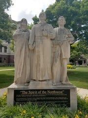 The 'Spirit of the Northwest' statue on the Brown County