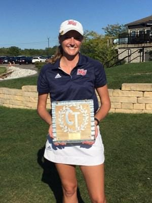 Malone's Christina Williams has had three straight top-three finishes at the Cumberland Trail Classic, including a pair of wins. (Malone University Athletics)