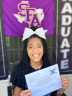 Christin Evans, a student at Stephen F. Austin State University in Nacogdoches, was asleep in her dorm room when she says police entered with guns drawn at 3 a.m.