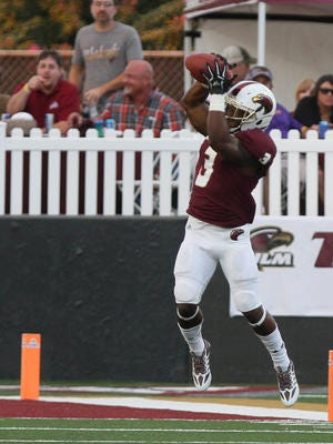 ULM running back Tyler Cain has 26 yards on 5 carries and has accounted for 57 receiving yards on 6 catches.