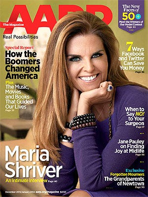 Maria Shriver covers the December/January issue of  'AARP The Magazine.'