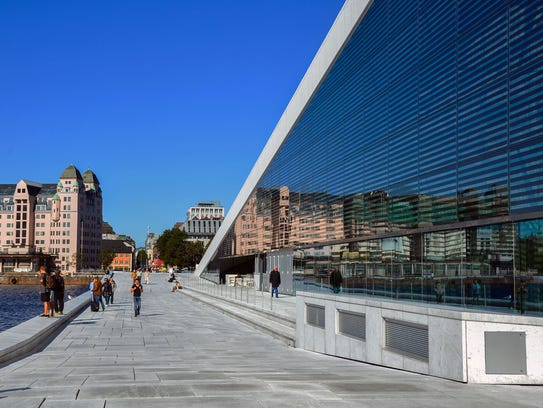 Oslo's redeveloped waterfront includes a five-mile-long