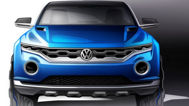 Volkswagen T-Roc has a rugged appearance