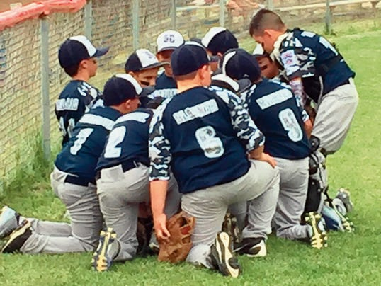 Danny Udero/Sun-News   The Minor Boys Division saw the Silver All-Stars hammer Truth or Consequences, 21-1, during elimination action Wednesday night at Ernie Christian Field in Bayard.