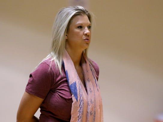 Christ Academy head volleyball coach Sara Lindemann