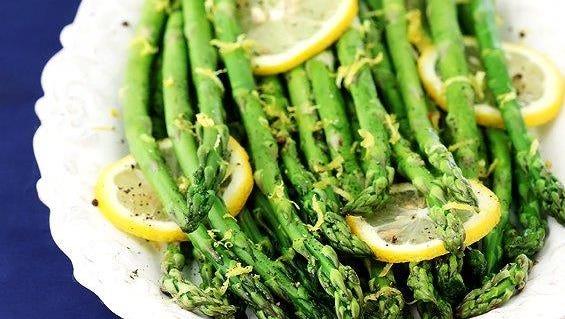 healthy recipe - lemon-roasted asparagus