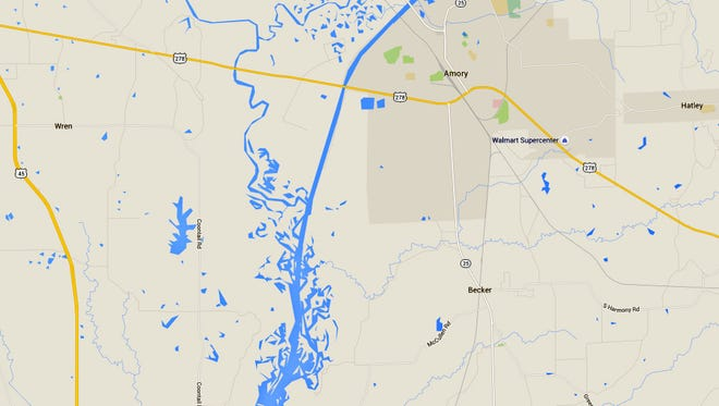 Tombigbee River in Monroe County