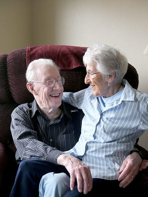 David Law and Leah Ritchie, residents of Canterbury Manor in East Bremerton, are octogenarians who married Sunday.