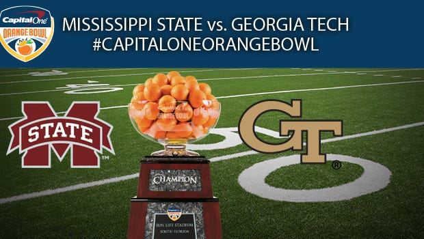 Mississippi State and Georgia Tech will square off in the 2014 Orange Bowl.