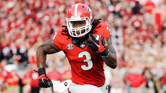 Georgia tailback Todd Gurley will return from his four-game suspension Saturday against Auburn.