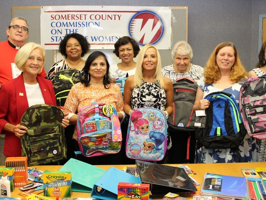 Displaying some of the hundreds of schools supplies