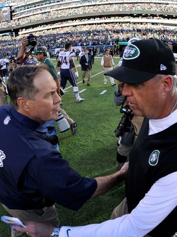 Bill Belichick and Rex Ryan will lead their teams in