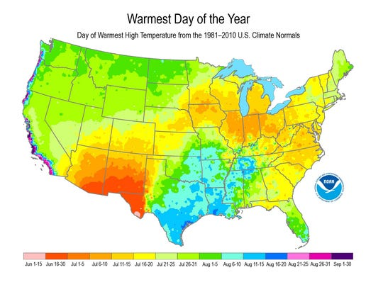 When is your hottest day of the summer?