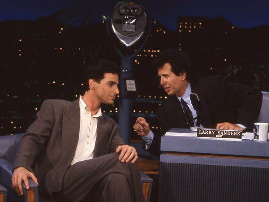 "Bob Saget (left) and Garry Shandling are seen in ""The"