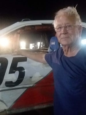 Wayne Noble of Wapello is 82-years old and has been racing cars wince 1959.