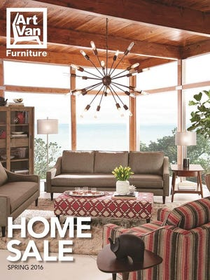 Art Van Furniture's new spring catalog hits stores Saturday.
