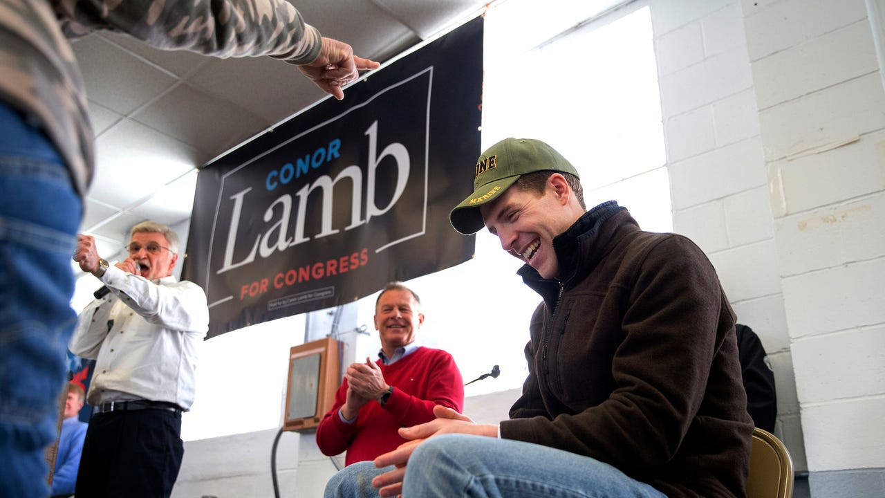 Democrat Conor Lamb votes in Pa. special election