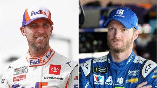 Denny Hamlin, left, and Dale Earnhardt Jr. (Getty Images, USA TODAY Sports)