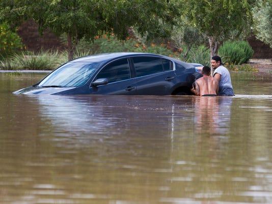 Sinking car