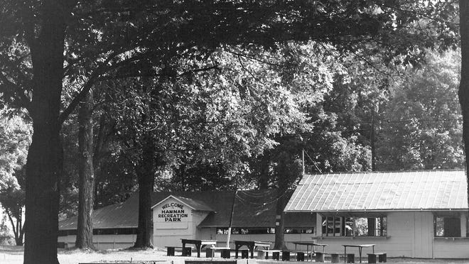 Buildings shown in the Hannan Recreation Park owned by Lancaster business man Kelly R. Hannan from 1959 to 1965.
