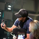 Luke Bryan performs at the Denny Sanford Premier Center Saturday, May 9, 2015.