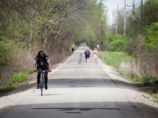 The Cardinal Greenway extends more than sixty miles