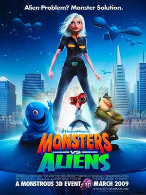 "The animated movie ""Monsters Vs. Aliens"" will be shown on Wednesday as part of the free family movie series at Premiere Cinemas Bassett."
