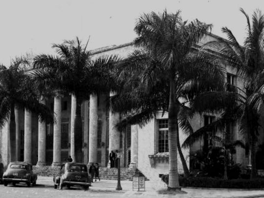 The Fort Myers post office on First Street, pictured in the 1940s, was abandoned when a new post office opened on Monroe Street in 1965.