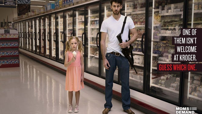 Indiana-based gun-control group Moms Demand Action has pressed retailers in a local and national advertising campaign to tell their customers to leave their guns home.