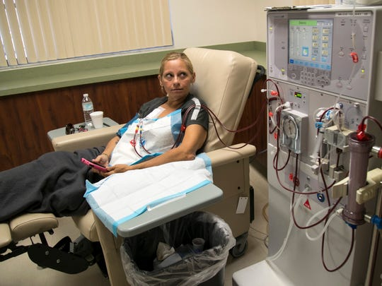 Melissa Tuff is on hemodialysis for more than 3 hours