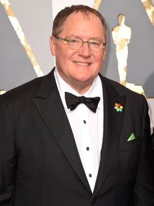 """Pixar co-founder and Walt Disney Animation chief John Lasseter arrives at the Oscars in Los Angeles in 2016. Lasseter is taking a six-month leave of absence citing """"missteps"""" with employees."""