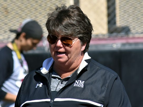 NMSU softball coach Kathy Rodolph and the Aggies are