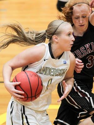Anderson University senior guard Heather Jankowy is averaging 9.8 points through five games.