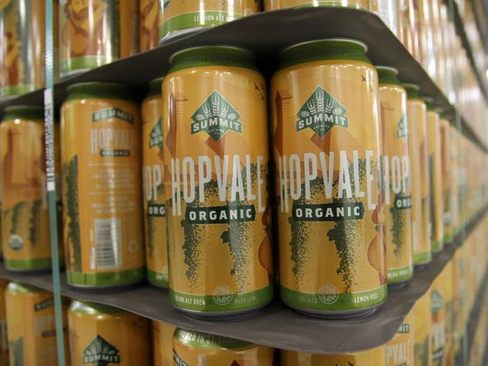 Summit Brewing Co.'s Hopvale uses all organic ingredients, including organic lemon peel.