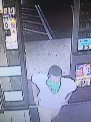 A suspect masked by a green bandana was thwarted in his attempt to rob a 7-Eleven store in Lehigh Acres Wednesday night.