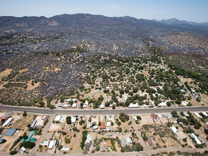 Yarnell Hill Fire Aerial Photos Of Scene