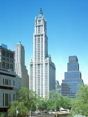The Woolworth Building in lower Manhattan.