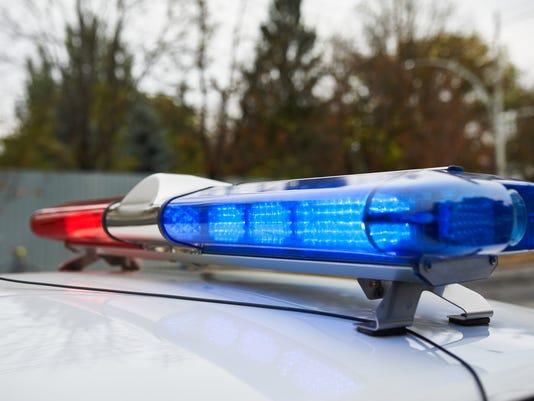 lightbar of an emergency police car