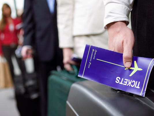 Man with a boarding pass