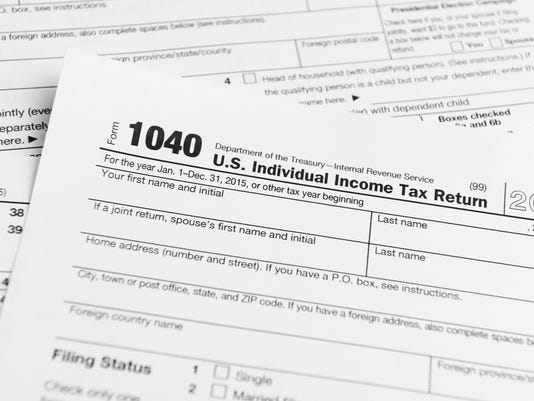 Financial IRS tax return forms
