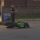 The motorcycle that crashed at 8512 Kingston Pike on Monday night.