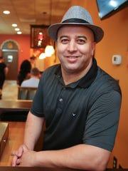 Elias Rhanim at the Olive Tree Cafe, the Newark-area