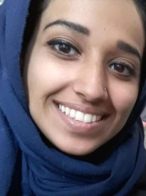 This undated image provided by attorney Hassan Shibly shows Hoda Muthana, an Alabama woman who left home to join the Islamic State after becoming radicalized online. Muthana realized she was wrong and now wants to return to the United States, Shibly, a lawyer for her family said Feb. 19, 2019.