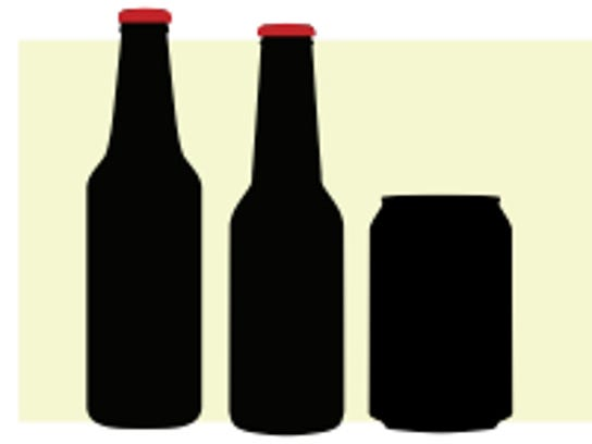 Different alcohol containers are shown in shadow