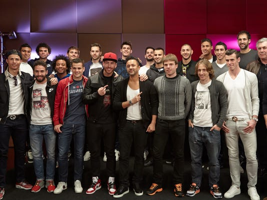 RedOne and Real Madrid soccer team